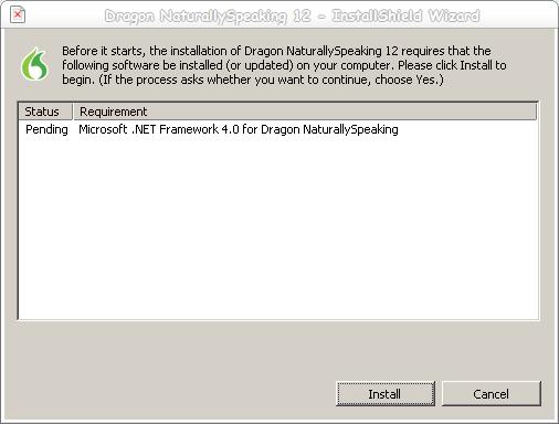 Dragon - 1 - Install .NET Framework 4.0