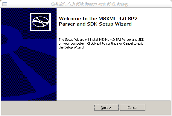 Dragon - 2 - MSXML 4.0 Parser Setup