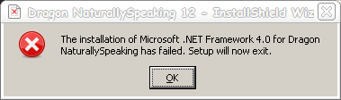 Dragon - 4 - .NET Failed To Install