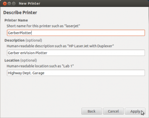 Finalize Printer Settings