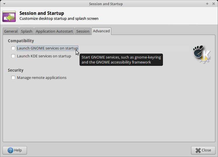 GNOME Compatibility XFCE